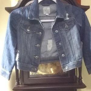 1989 Place distressed Jean jacket/kids